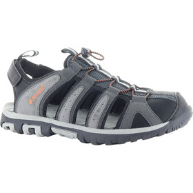 Hi-Tec Cove Breeze Sandals Men charcoal/cool grey/black/red orange